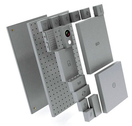 An exploded view of the Phoneblok