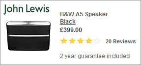 Best Buy -A5- Bower and Wilkins A7 Airplay Speaker at John Lewis