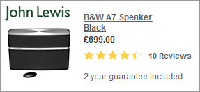 Best Buy - Bower and Wilkins A7 Airplay Speaker at John Lewis
