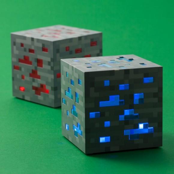 Minecraft Night Light Red Stone or Diamond Ore Blocks