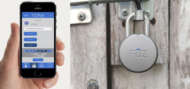 Noke Bluetooth Padlock unlocks wirelessly with your smarphone