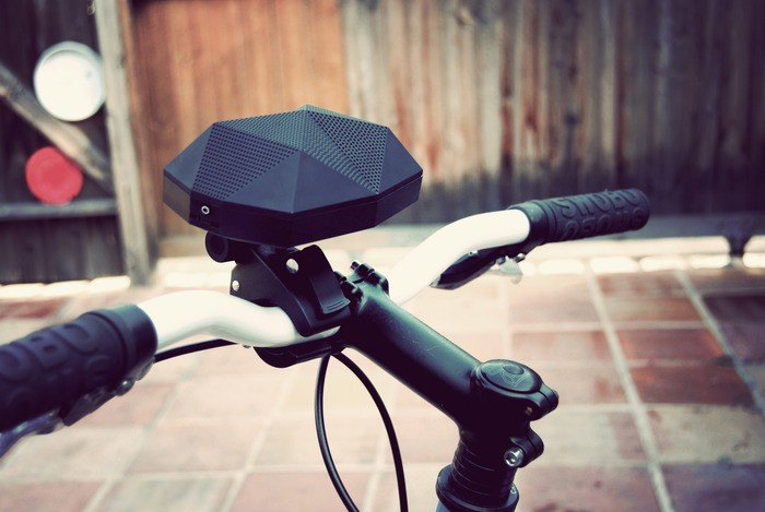 The Turtle Shell Wireless Speaker on your Bike
