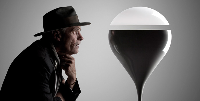 Floating Lamp design using magnetic levitation
