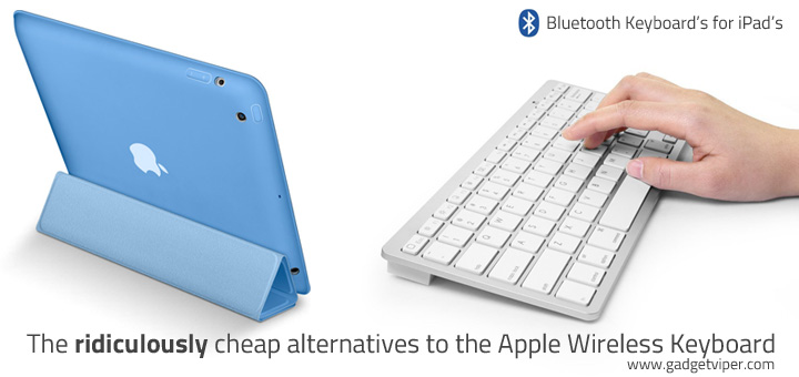 Bluetooth Keyboard for iPad - Alternative to Apple's Wireless Keyboard