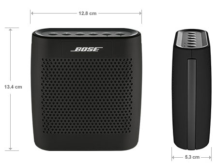 The Bose Soundlink Colour Bluetooth Speaker Size