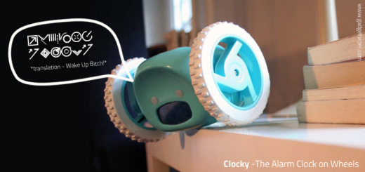 Clocky Alarm Clock on Wheels - Time to Wake up!