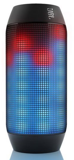 The JBL Pulse Bluetooth speaker with LED Lighting Effects