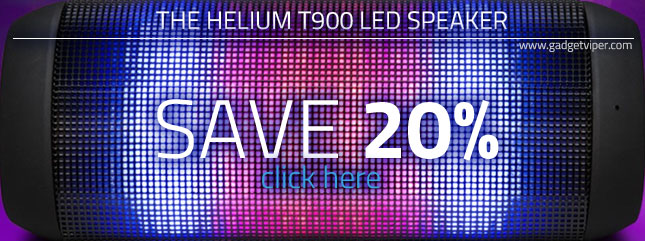 Save 20% on the Helium T900 LED speaker here