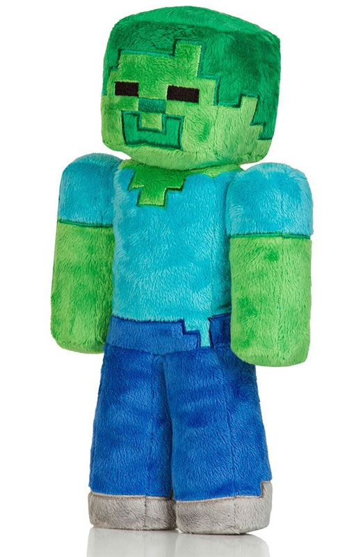 "The Official 13"" Minecraft Zombie Plushy"