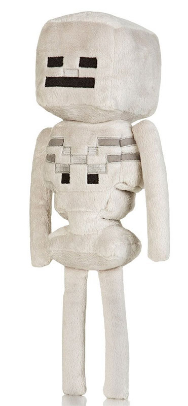 "Official Minecraft Plush Toys - The 13"" Minecraft Skeleton"