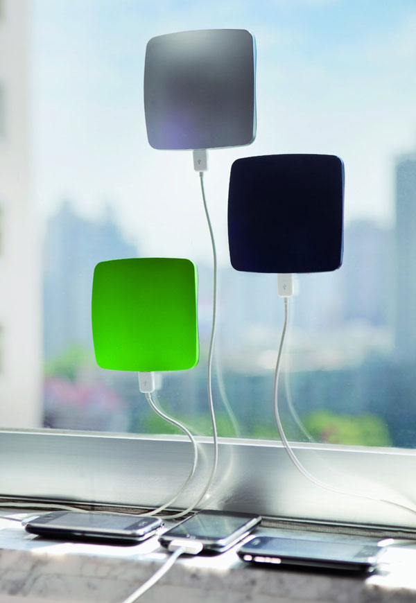Cool looking Gadget - The window solar powered phone charger