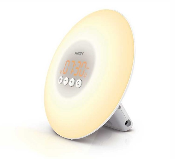 the HF3500 Philips wake up light is the more offordable option for your sunrise alarm clock