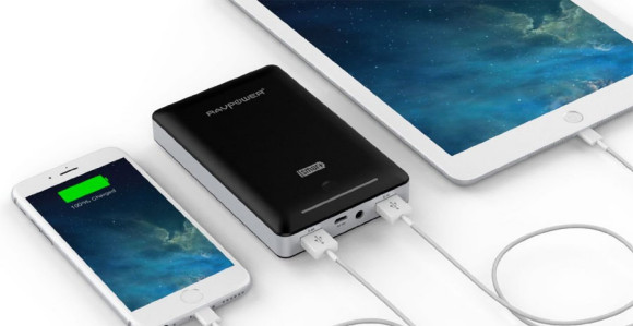The 15,000mAh RAVPower Deluxe 3rd gen portable phone charger