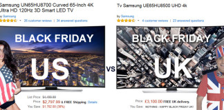 Black Friday 2014 UK deals vs US offers