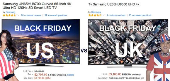 Amazon Black Friday 2014 offers on 4K LED TV's