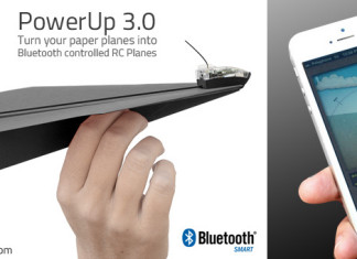 The PowerUP gadget that turns regular paper airplanes into rc controlled planes