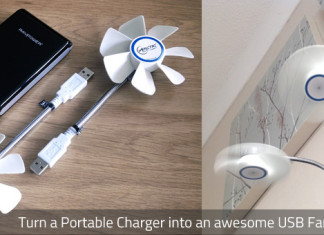 Turn your Portable Charger into a USB fan