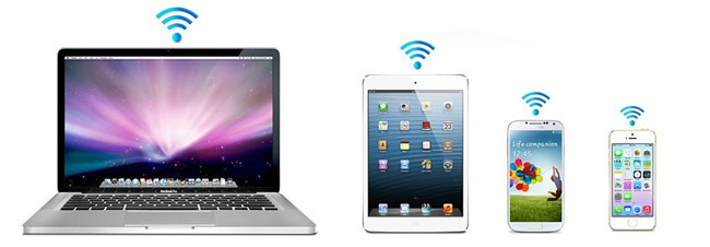 Portable Wireless Media Sharing on up to 5 devices