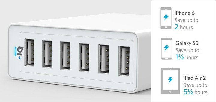Review of the Anker 60W 6 Port Charging Station