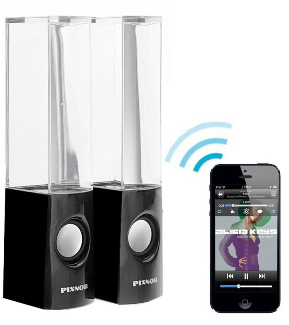 Bluetooth Water Fountain Speakers by Pixnor