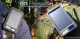 The iSIS Freeloader Portable Solar Phone Charger review by GadgetViper