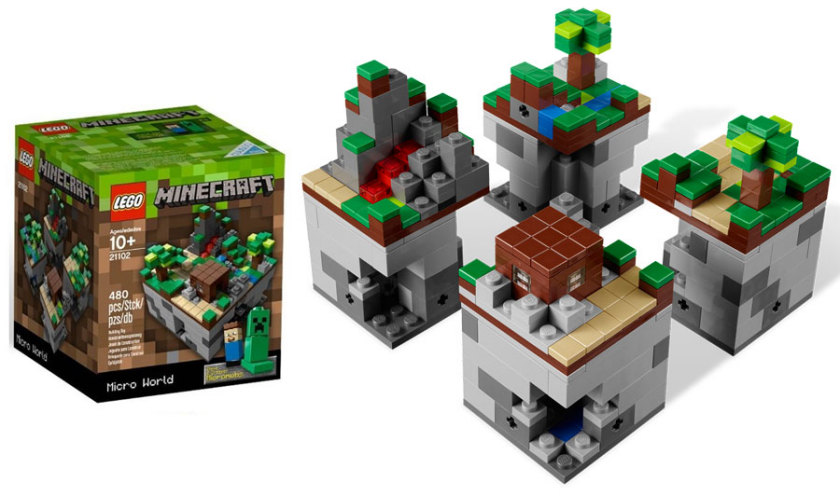 Lego Minecraft Sets - Micro World 21102