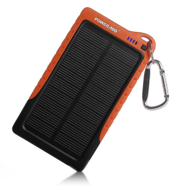 The PowerAdd Solar Charger is ideal for summer hikes and camping trips