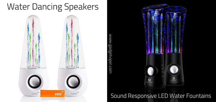 The Best Water Dancing Speakers with LED lit water fountains
