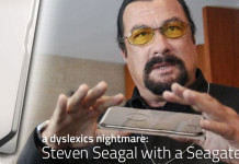 The Seagate Seven - The Worlds thinnest portable hard drive modelled by Steven Seagal