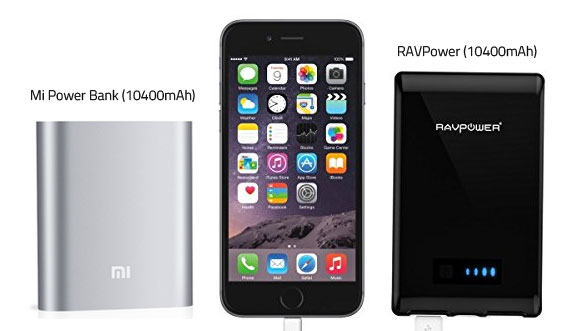 The Xiaomi Power Bank vs the RAVpower Element 10400mAh