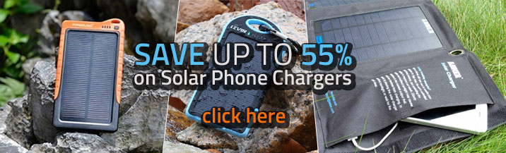 Solar Chargers - Find the best online deals and save upto 55% on solar phone chargers