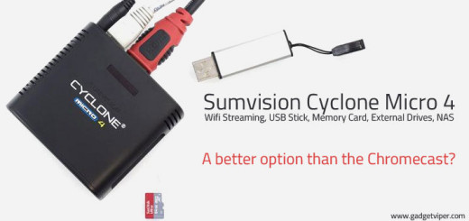 The Sumvision Cyclone Micro 4 Multimedia Player with Wifi streaming, Mirorcast