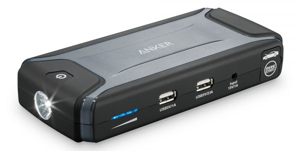 Anker Portable Car Jump Starter with a built in phone charger and LED torch