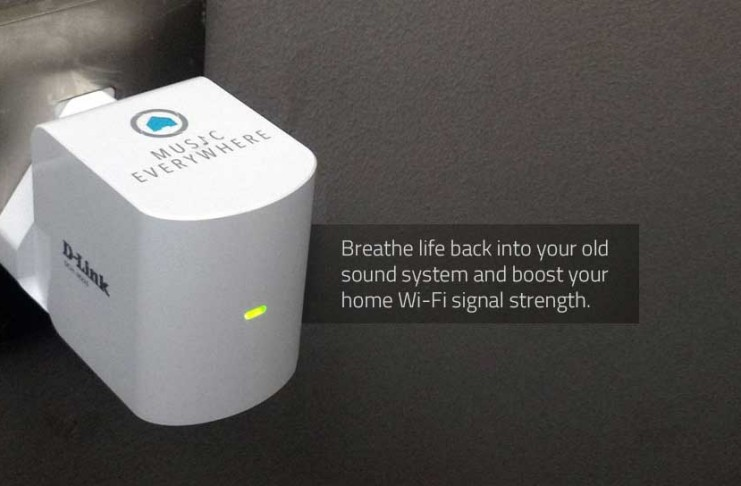 D-Link DCH-M225 Music Everywhere - breathe life back into your old sound system and boost your wi-fi signal strength