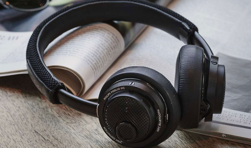 The Philips Fidelio M2BT bluetooth headphones