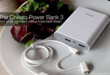 The Cheero Power Bank 3 - Not to be confused with a Kobe beef steak!