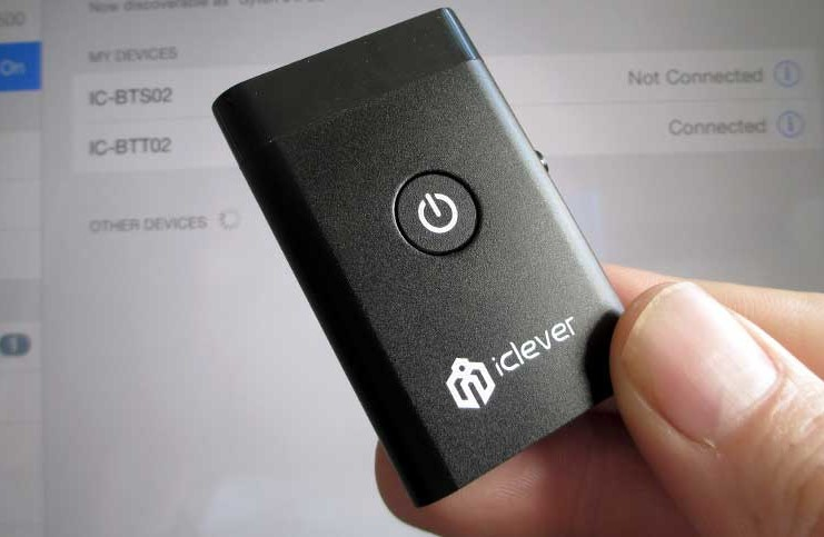 The iClever bluetooth transmitter and receiver 2 in 1 bluetooth audio device