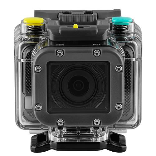 The 4GEE Action Cam in it's waterproof housing
