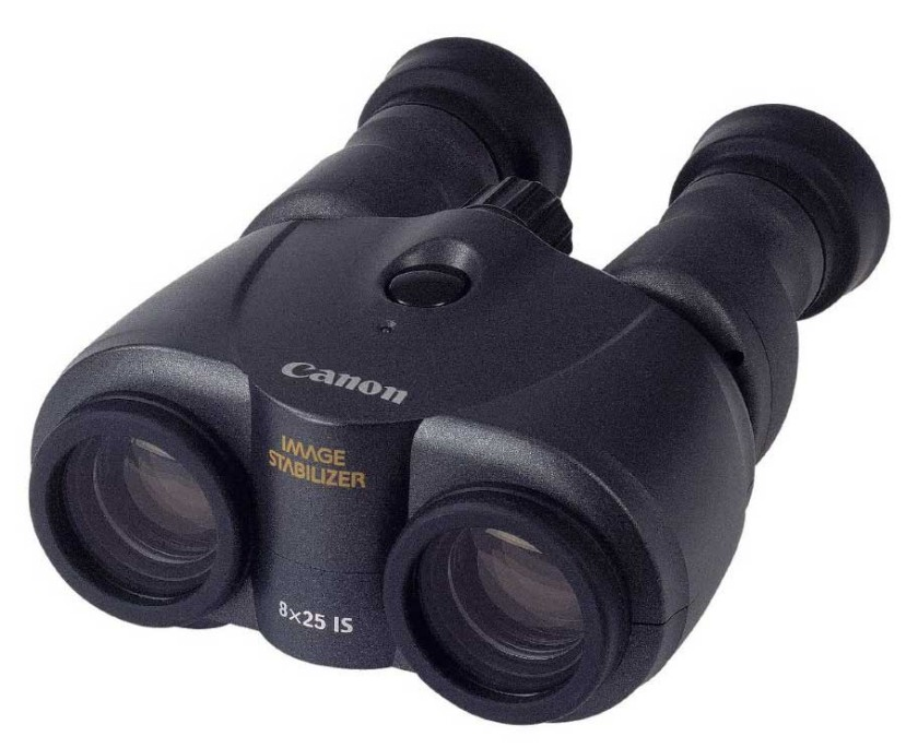 The 8x25 Canon image stabilized binoculars