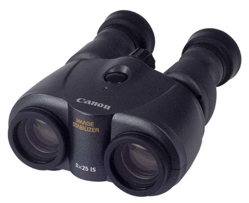 The 8x25 Canon image stabilized binoculars