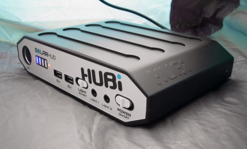 The HUBi SolarHUB 2k - portable solar power battery unit
