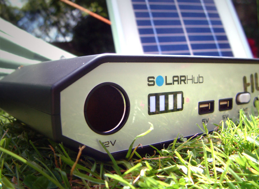 The HUBi 2k Power unit and solar panel for portable energy requirements