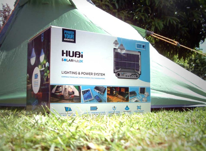 The HUBi 2k - A 12V Solar panel portable power system