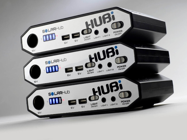 The HUBi solar power system can be daisy chained to extende the storage capacity.