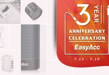 The EasyAcc Hot Sale and Anniversary Giveaway offer.