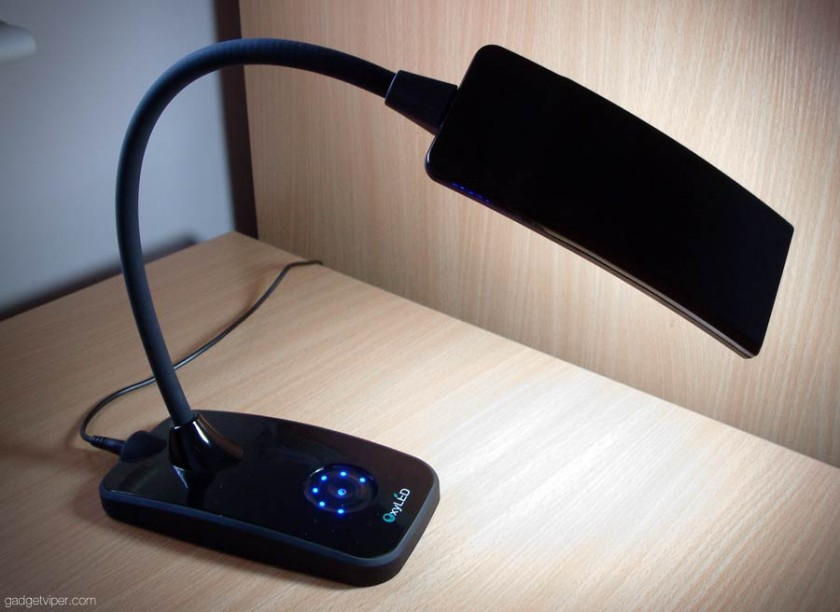 oxyled t120 dimmable led desk lamp features. Black Bedroom Furniture Sets. Home Design Ideas