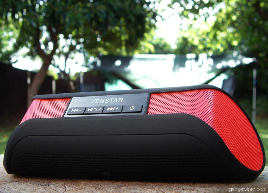The Venstar taco shaped portable bluetooth speaker