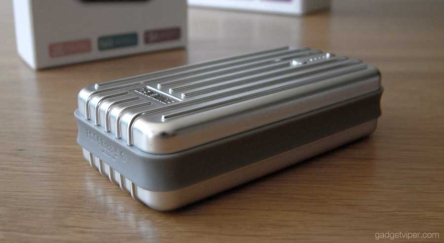 The metal finish on the Zendure A2 polycarbonate surface.
