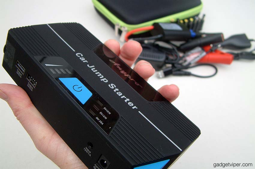 The AnyPro car starter and portable laptop charger