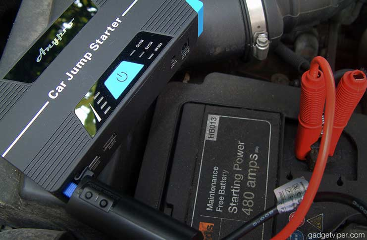 AnyPro compact car jump starter and power bank review